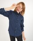 Chemises - Blauw hemd met print, 7-14 jaar
