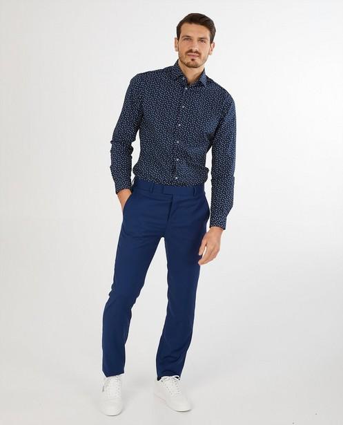 Blauw hemd met print - Twinning - Iveo