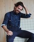 Hemden - Blauw hemd met print