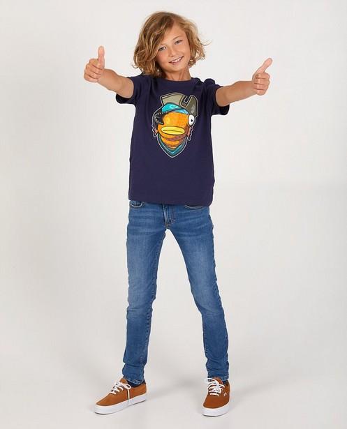 Blaues Fortnite-Shirt - Stretch - Fortnite