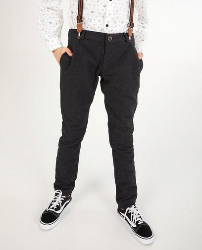 Zwarte broek met bretellen