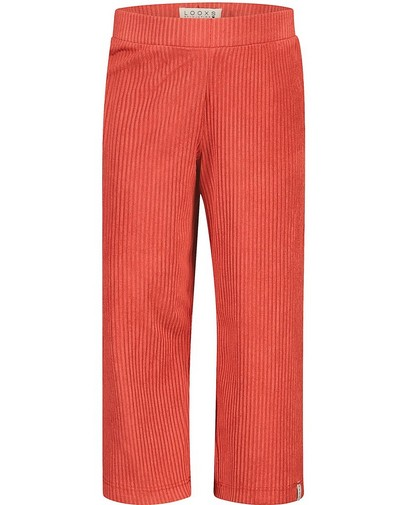 Oranje broek met ribreliëf Looxs