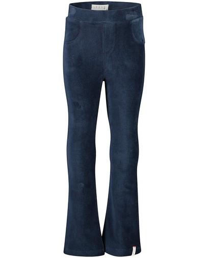Fluwelen broek in blauw Looxs