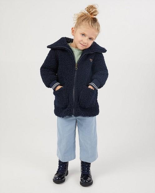 Donkerblauwe teddy-jas Looxs - zacht - Looxs