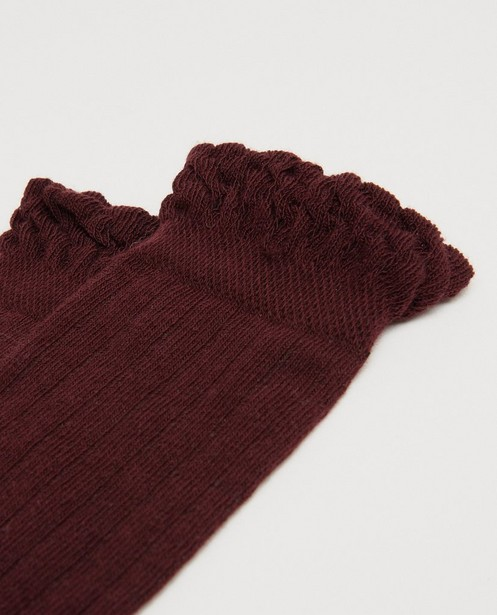 Chaussettes - Bruine kniekousen Looxs