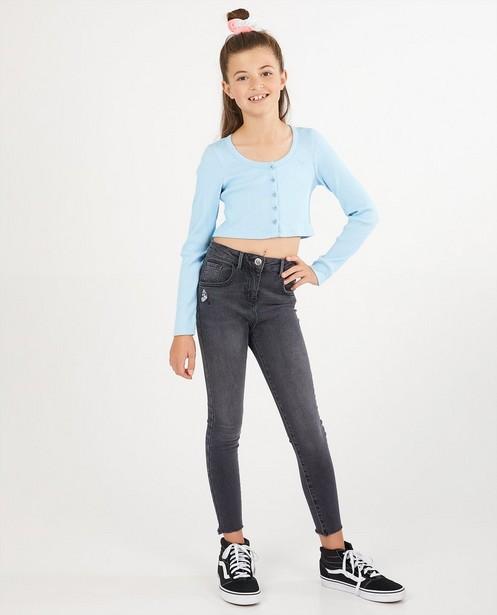 T-shirt bleu à manches longues Elisa Bruart - relief côtelé - Elisa Bruart