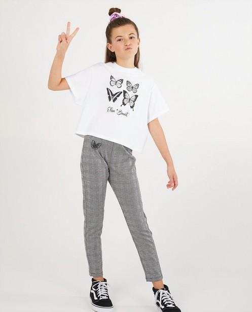 T-shirt blanc avec imprimé Elisa Bruart - papillons - Elisa Bruart