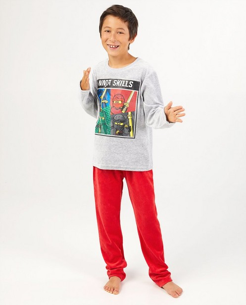 Grauer Lego Ninjago-Schlafanzug - Fleece - Fortnite