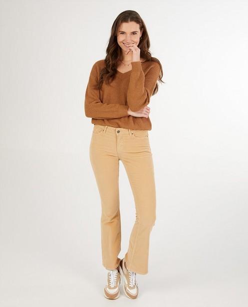 Pantalon bootcut en velours côtelé Sora - beige - Sora