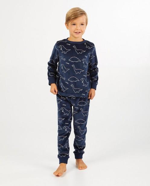 Pyjamas - Lichtgroene pyjama met print