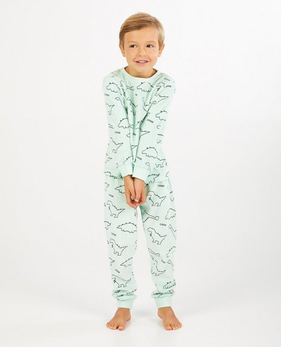 Lichtgroene pyjama met print