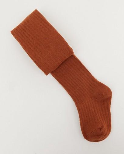 Rode kousenbroek met ribreliëf