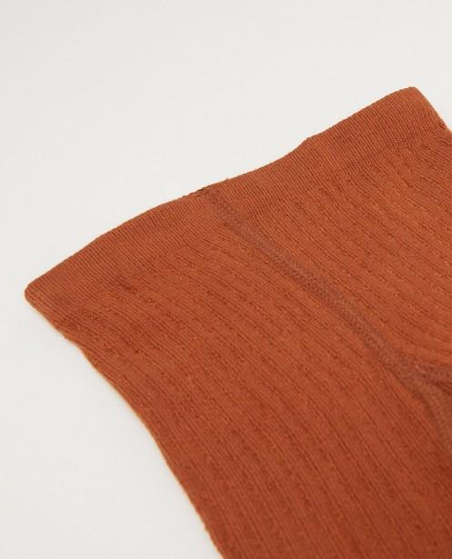 Kousen - Rode kousenbroek met ribreliëf