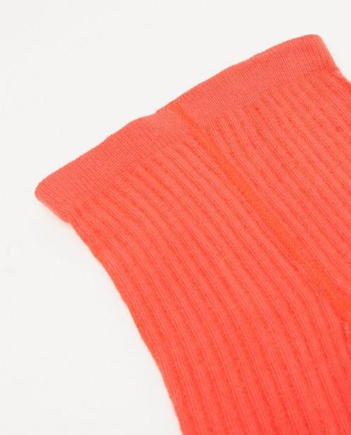 Strümpfe - Rode kousenbroek met ribreliëf