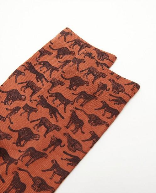 Chaussettes - Kousen met dierenprint, maat 35-42