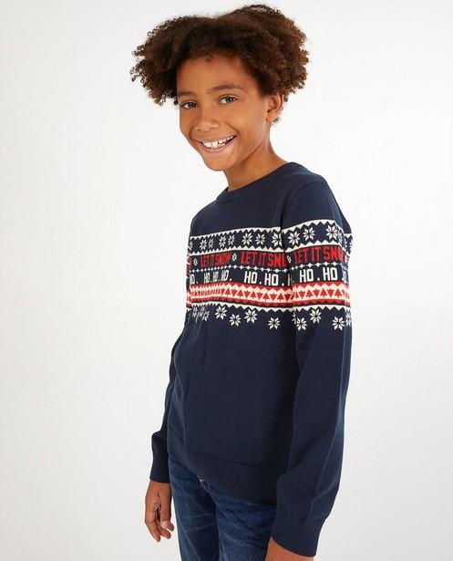 Pulls - Blauwe kersttrui, 7-14 jaar