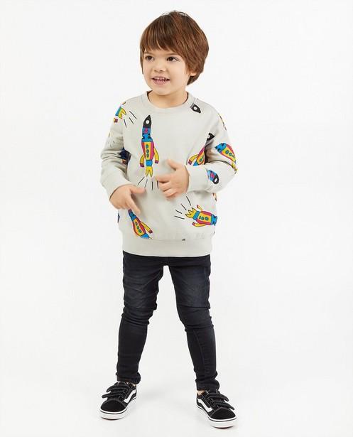Sweater met print Nadadelazos - raket - Nadadelazos