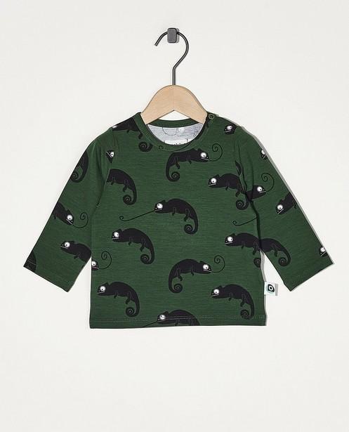 T-shirt vert à manches longues Onnolulu - avec imprimé intégral - Onnolulu