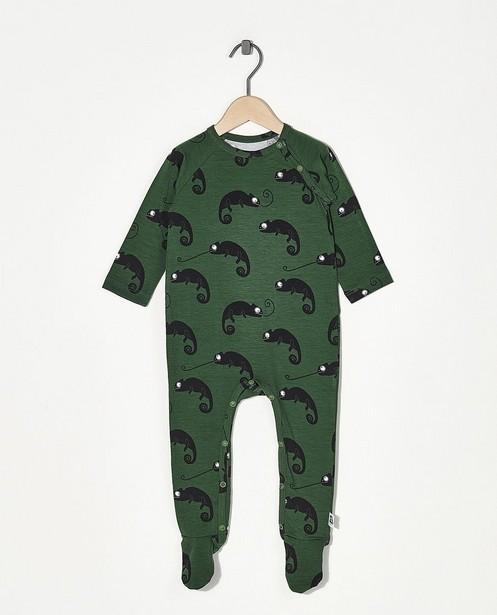 Groene pyjama Onnolulu - met overall print - Onnolulu