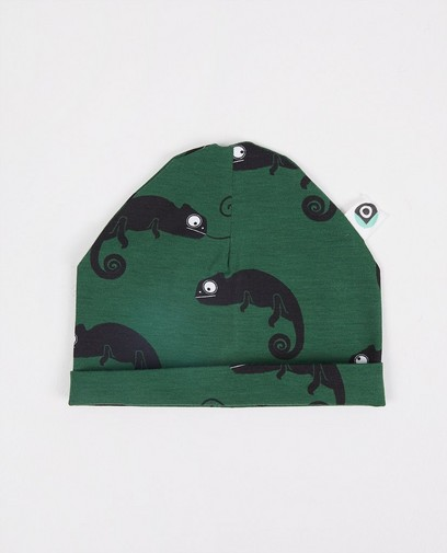 Groen mutsje met print Onnolulu