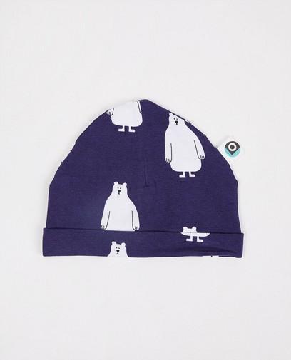 Bonnet bleu avec imprimé Onnolulu