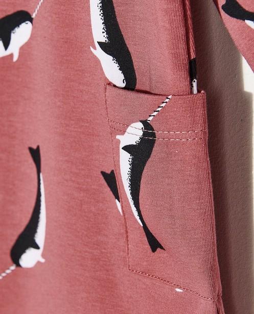 Kleedjes - Roze jurk met print Onnolulu