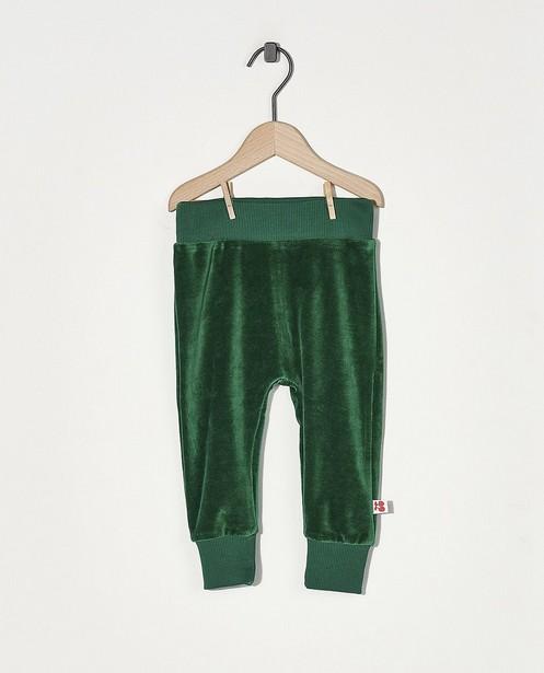Pantalon de jogging vert Froy & Dind - en velours - Froy en Dind