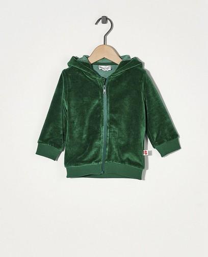 Veste molletonnée verte Froy & Dind