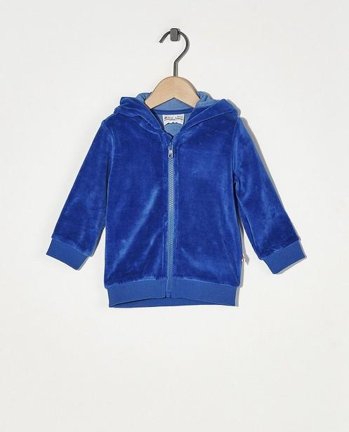 Veste molletonnée bleue Froy & Dind - en velours - Froy en Dind