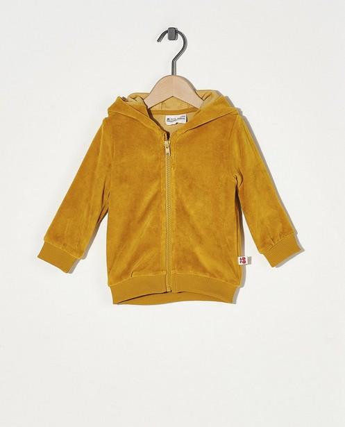 Veste molletonnée jaune Froy & Dind - en velours - Froy en Dind