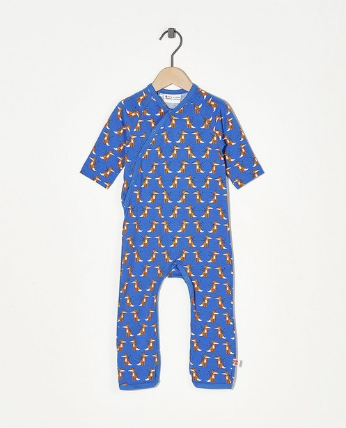 Blauwe pyjama Froy en Dind - met allover print - Froy en Dind