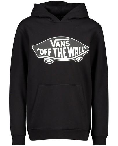 Zwarte hoodie met print Vans