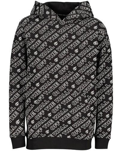 Zwarte hoodie met opschrift Vans