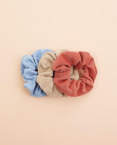Set van 3 ribfluwelen scrunchies