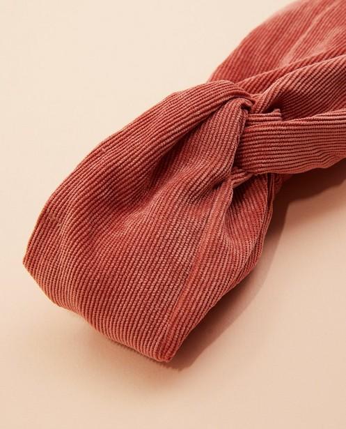 Bonneterie - Bandeau rose foncé en velours côtelé