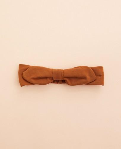 Braunes Haarband mit Schleife