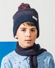 Ensemble: bonnet + écharpe Dylan Haegens - bleu-brun - Dylan Haegens