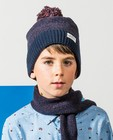 Set: Mütze + Schal Dylan Haegens  - blau-braun - Dylan Haegens