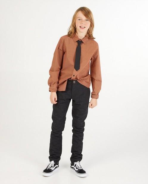 Chemise brune avec une cravate - imprimé intégral - Fish & Chips