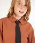 Chemises - Chemise brune avec une cravate