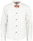 Chemises - Chemise blanche à imprimé + nœud