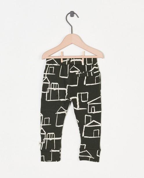 Pantalons - Groene broek met print Your Wishes