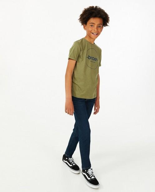 T-shirt met opschrift (NL), 7-14 jaar - van biokatoen - Fish & Chips