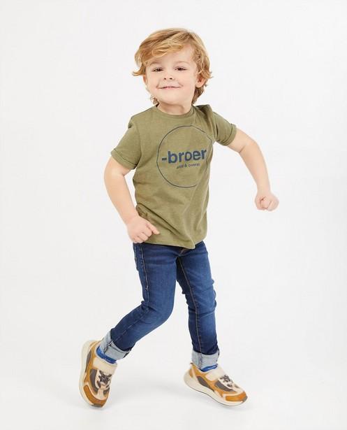 T-shirt met opschrift (NL), 2-7 jaar - van biokatoen - Fish & Chips
