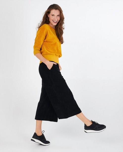 Jupe-culotte noire Froy & Dind - en velours côtelé - Froy en Dind