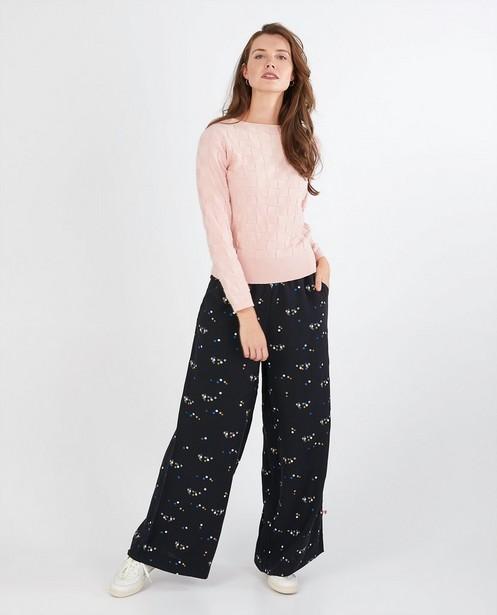 Pantalon à pois Froy & Dind - noir - Froy en Dind
