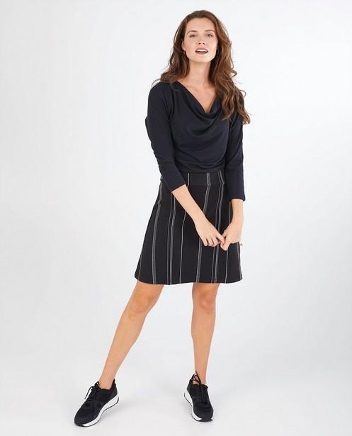 Jupe noire rayée Froy & Dind - stretch - Froy en Dind