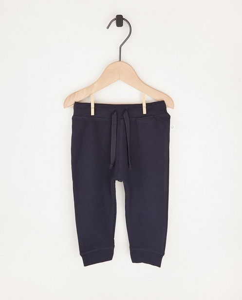 Pantalon molletonné bleu en coton bio - 2 pour 14,95 € - Cuddles and Smiles