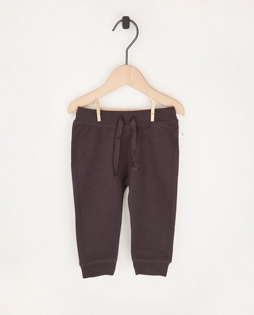 Pantalon molletonné gris foncé en coton bio - 2 pour 14,95€ - Cuddles and Smiles