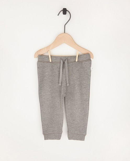 Pantalon molletonné gris en coton bio - 2 pour 14,95 € - Cuddles and Smiles